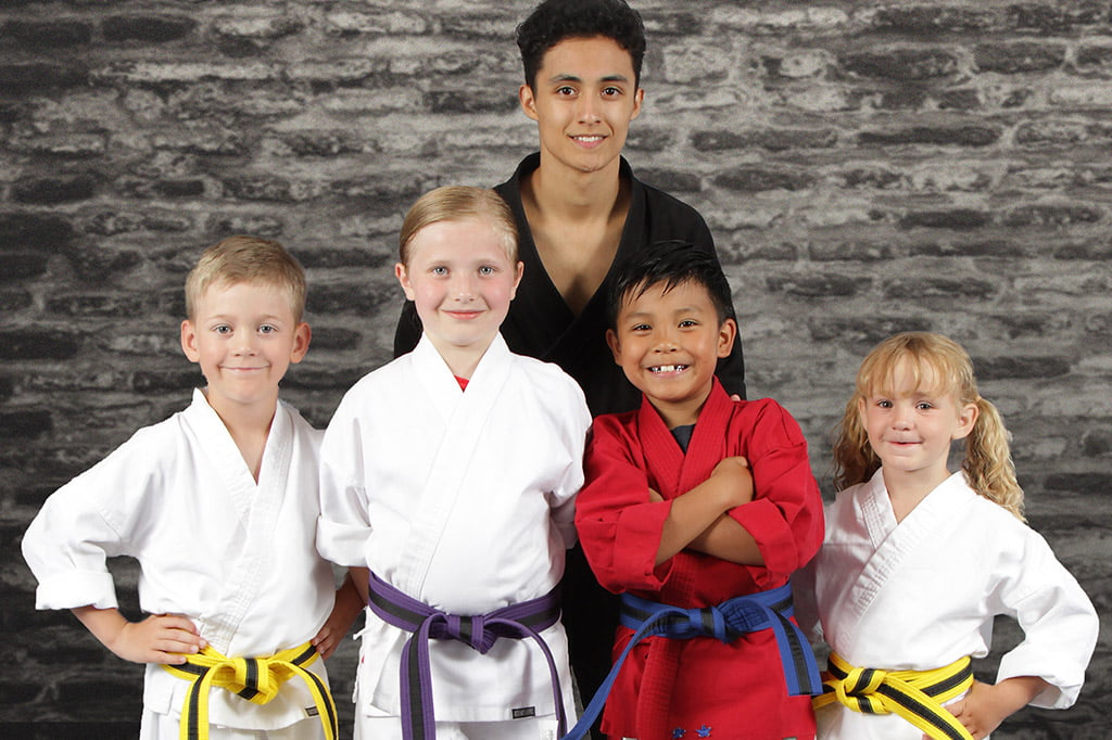 Bernardo Karate students posing