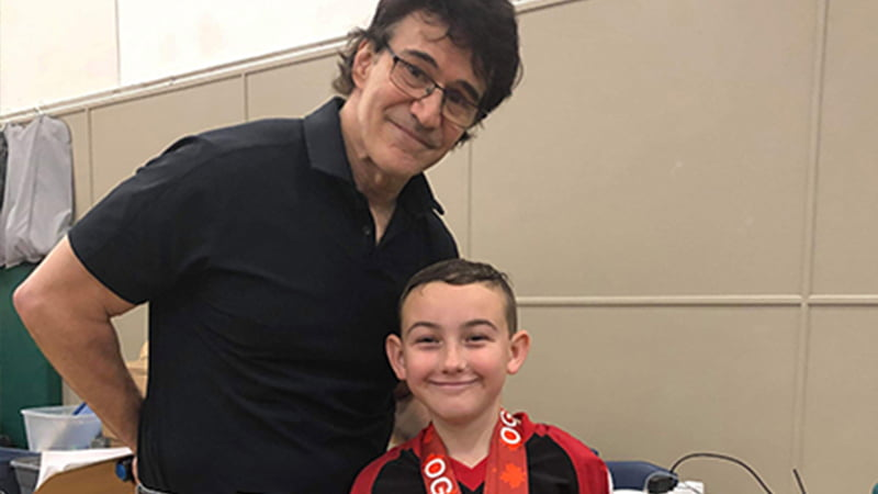 Image above of Youth competitor, Kaleb Boyle with OGN Promoter, Shihan Michael Bernardo.  Kaleb won the 10 and under, 2019 Junior Black Belt forms Grand Championship.  This is Kaleb's second year in a row winning the Grand Champion forms title! Congratulations!