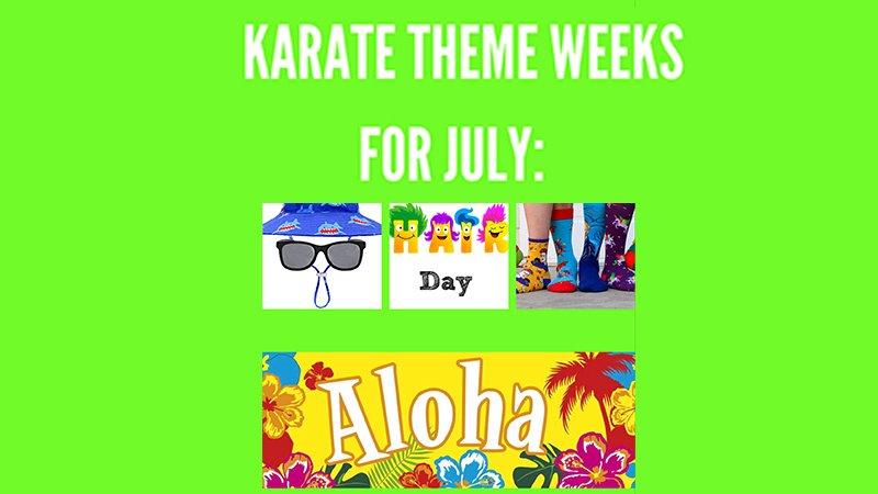 summer karate theme weeks